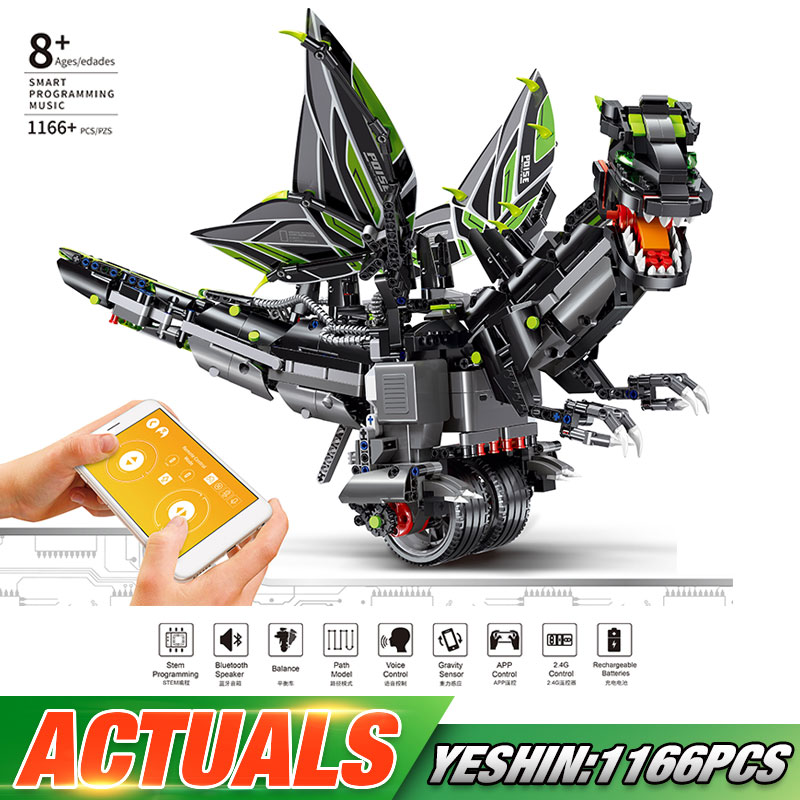 Yeshin App Voice Control Toys With Music Compaitble With New 70612 Mecha Dragon Set Building Blocks