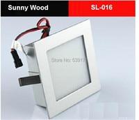 Free shipping 2pcs/lot 1w led stair lamp ladder light/led wall light 3years warranty SL 016