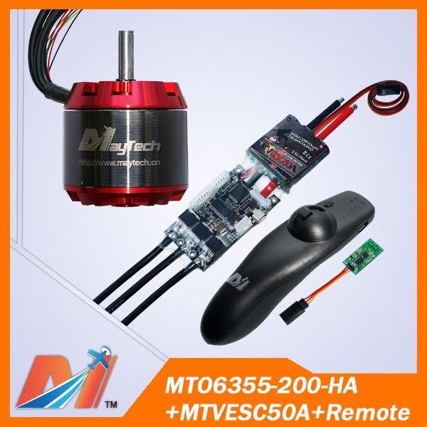 Maytech 6355 200KV electric skateboard sensored brushless motor and SuperESC based on VESC and