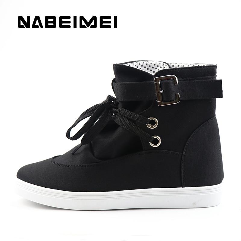 Online Get Cheap Womens Flat Black Ankle Boots -Aliexpress.com ...