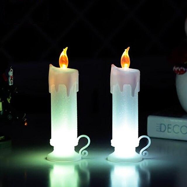 Long Pillar Christmas Led Electronics Candle Lamp Bougies