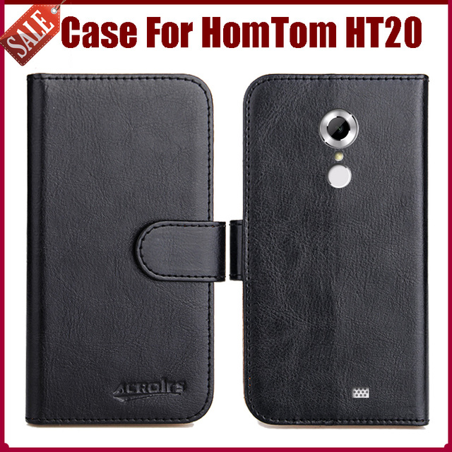 Hot Sale! HomTom HT20 Case High Quality 6 Colors Flip Leather Exclusive Protective Cover For HomTom HT20 Case