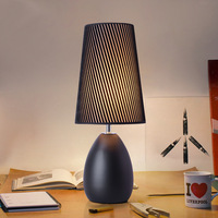 White And Black Metal Table Lamp For Bed Room Bedside Lighting Small Desk Lamp Bedroom Decorated