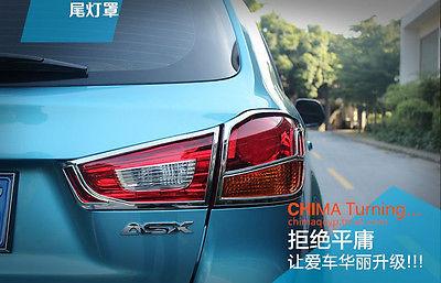 Здесь можно купить  4*ABS Chrome tail Rear light cover For Mitsubishi ASX/Outlander Sport 2013-2015  Автомобили и Мотоциклы