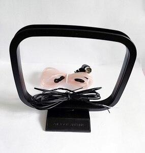Image 1 - Antenne femelle de connecteur de Pal de forme de T de Dipole FM dintérieur de 75 ohms + antenne de boucle dam pour les systèmes stéréo de récepteur AV de Yamaha Sony