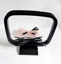 Coperta 75 Ohm FM Dipolo T di figura Femminile Pal Connettore Antenna + AM Loop antenna per Yamaha Sony AV Stereo sistemi di ricezione