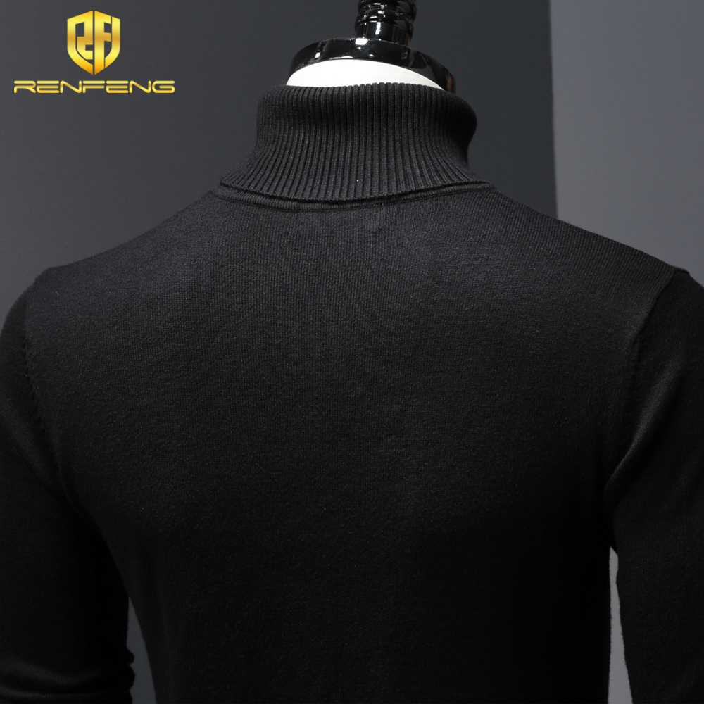 mens wool sweaters 2018 turtleneck men winter shirt christmas sweaters dress man clothes knitwear pullover jumper for male (2)