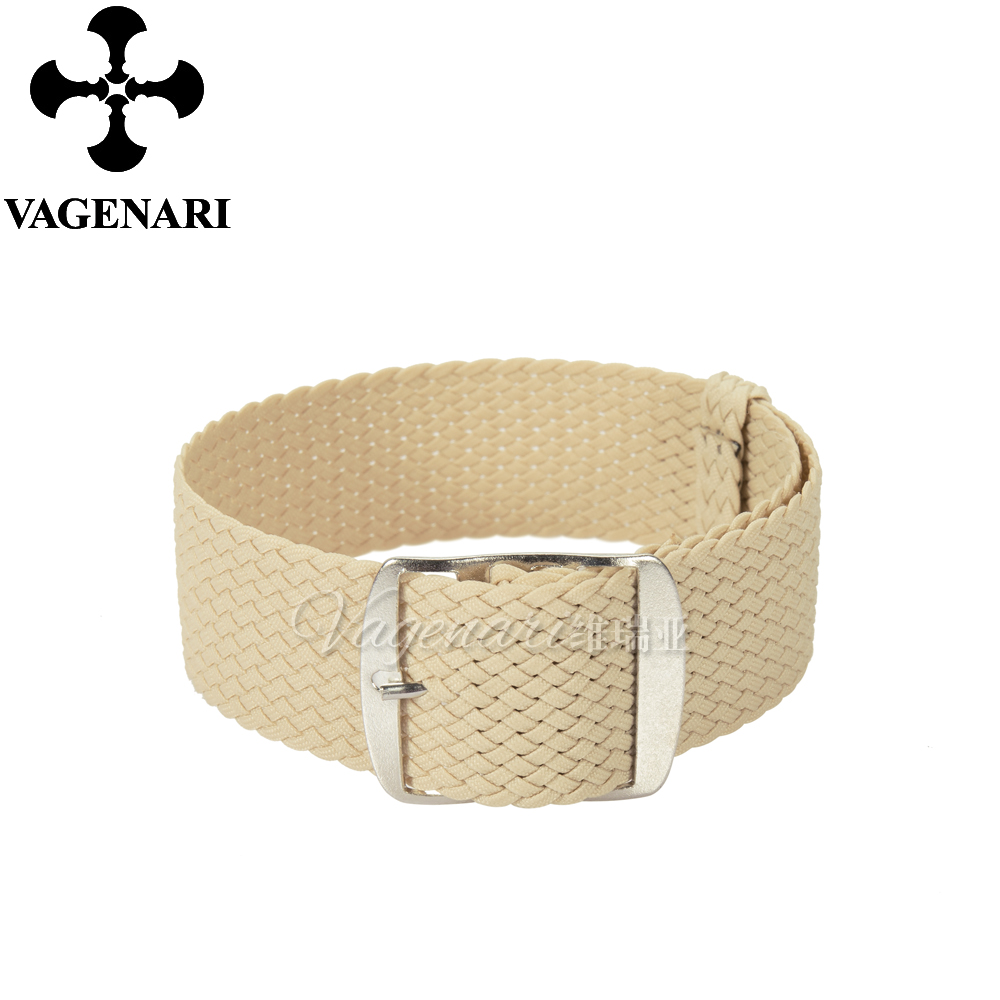Wholesale Fashion Beige Perlon Strap Braided Watch Strap 20mm Watchband free shipping wholesale black brown perlon strap braided watch strap 20mm watchband with buckle