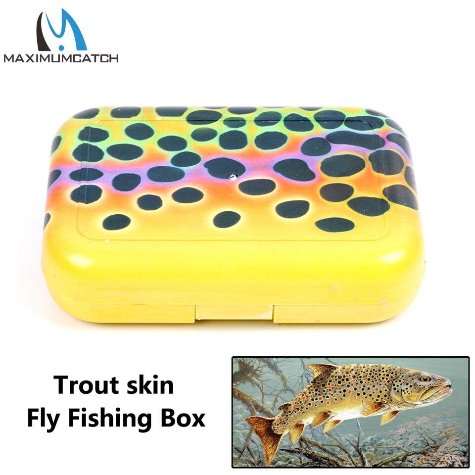 Maximumcatch Maxcatch Plastic Trout Skin Fly Fishing Lure Box With Swing Leaf Slit Foam|box gum|box letterbox - title=