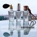 3 styles 10ml Glass Perfume Bottles Spray Bottles Transparent Luminous Glass Liquid Bottle with Spray Airbag Wood Cosmetics Kit