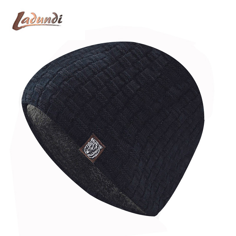 New Winter Hat Men Knitted   Beanies   Warm Bonnet Caps Baggy Brand Solid Thicken Fur Winter Hats For Men Women Wool   Skullies     Beanie