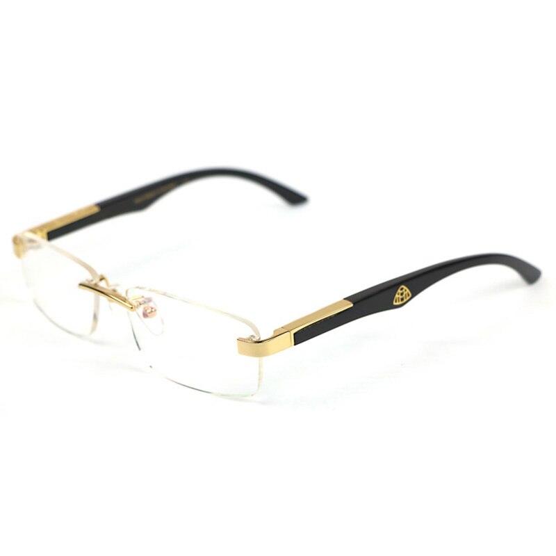 Luxe blanc buffle corne optique lunettes cadre en bois lunettes cadres marque designer lunettes remplir prescription verre clair homme