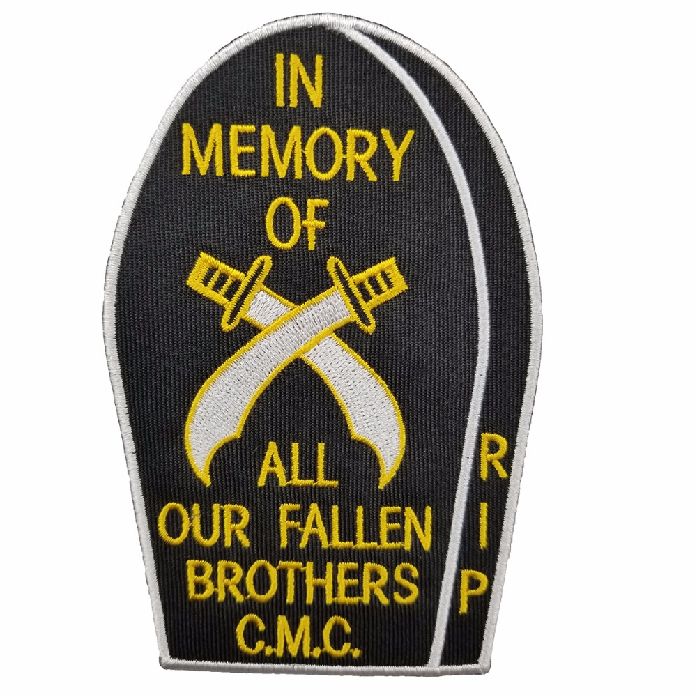 PWA0001 New Arrival COSSACKS TEXAS MC Embroidered Iron-On Sew On Biker Rider Patch Full Back Size Jacket Vest Badge SGT. AT ARMS Rocker Patch (3)
