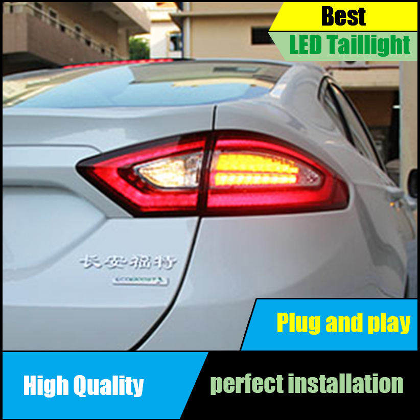 Car Styling 4PCS/Set For Ford Mondeo Fusion 2013 2014 2015 2016 Taillights LED Taillight LED Rear Lamp Brake+Reversing+Signal car styling for suzuki swift taillights 2014 2015 for swift rear lights dedicated car light led taillight assembly