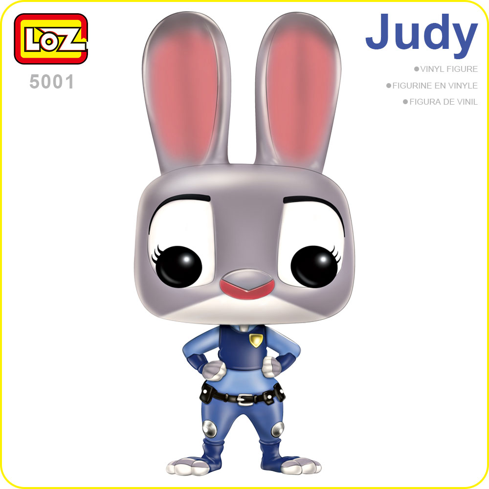 цены  LOZ Figures Anime Toy Figura POP Vinyl Toys For Kids Big Head Chibi Doll Action Figures Bobble Head Fun Rabbit Cute Animal 5001