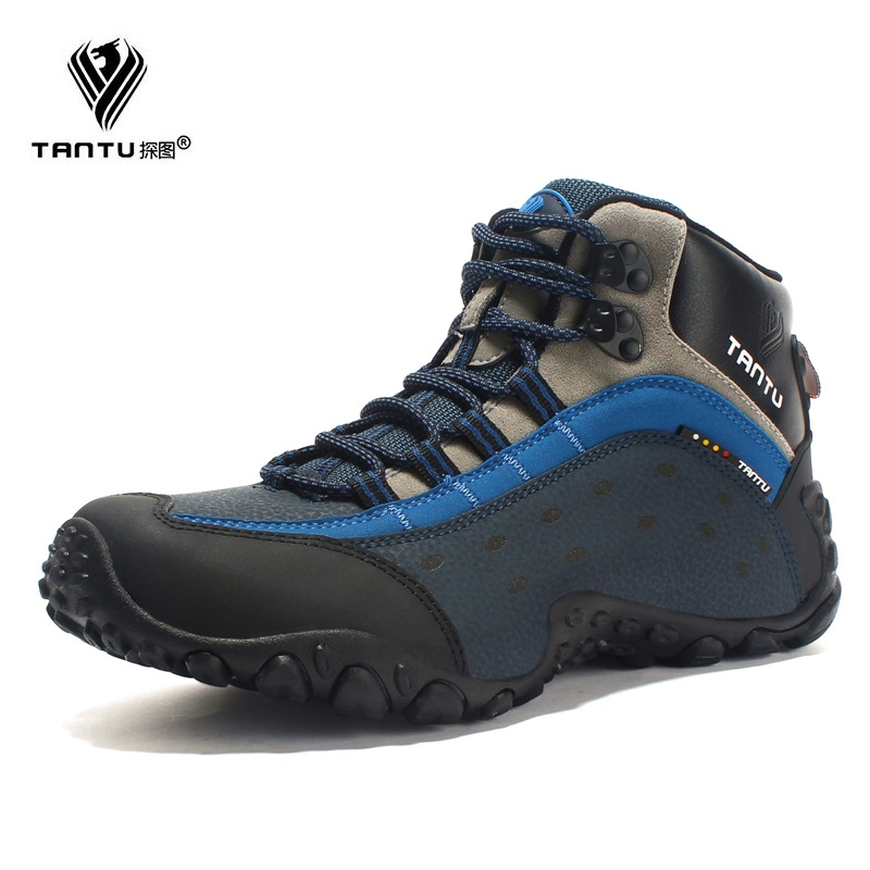 TANTU Men shoes Breathable Leather new fashion trekking shoes High-quality Leather Waterproof Round Toe shoes цена 2017