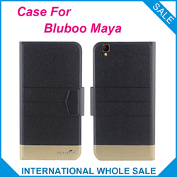 5 Colors Super! Bluboo Maya Case Fashion Business Magnetic clasp Flip Leather Exclusive Case For Bluboo Maya Cover Phone Bag