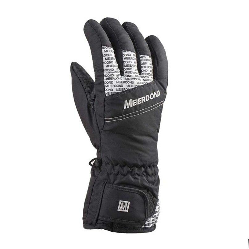Warm Ski Snowboard Skiing Gloves Motorcycle Riding Winter Gloves Windproof Waterproof Snow Glove Men Women cycling gloves #2s18 (4)