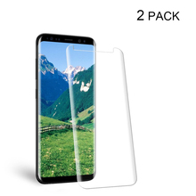 POMER 2 Pack For Galaxy S8 Screen Protector 3D Full Coverage Tempered Glass Protective Flim For Samsung Galaxy S8 Plus
