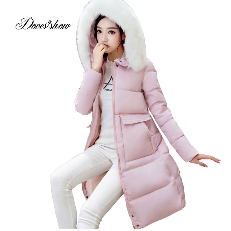 Hooded Autumn Winter Down Coat Jacket Long Warm Slim Women Casaco Feminino Abrigos Mujer Invierno 2018 Parkas Outwear Coats 06