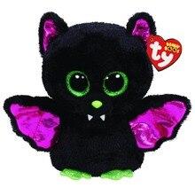 """타이 플러시 동물 인형 Igor 블랙 박쥐 부드러운 박제 장난감 태그 6 """"15cm"""