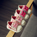 Floral spring and autumn baby canvas shoes soft bottom toddler baby girls casual single shoes princess sports sneakers