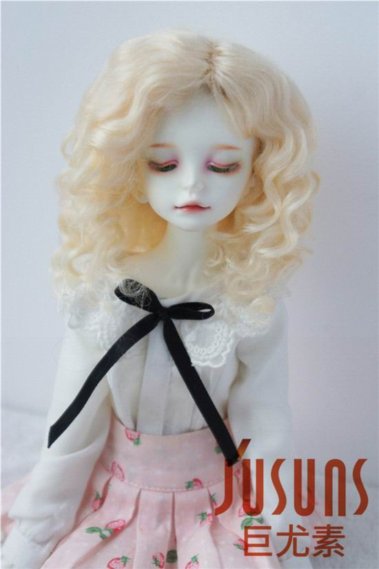 JD039 MSD lovely curly  doll wig  1/4 Mohair BJD wigs  Jerryberry  doll accessories Resin doll  Collection doll wigs 1 3 1 4 1 6 1 8 1 12 bjd wigs fashion light gray fur wig bjd sd short wig for diy dollfie
