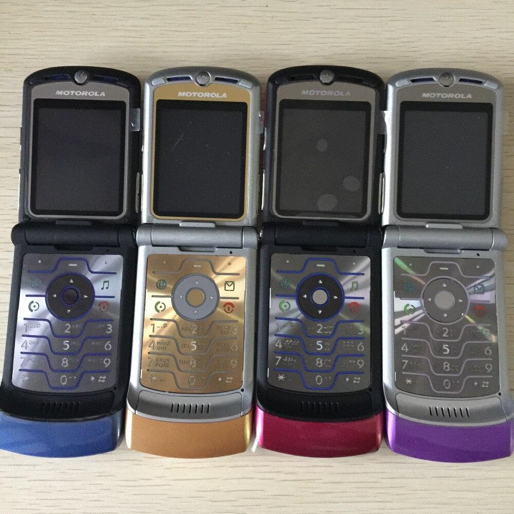 100% débloqué Original Motorola Razr V3i Flip GSM Bluetooth MP3 quadri-bande Mobile téléphone portable remis à neuf livraison gratuite - 3