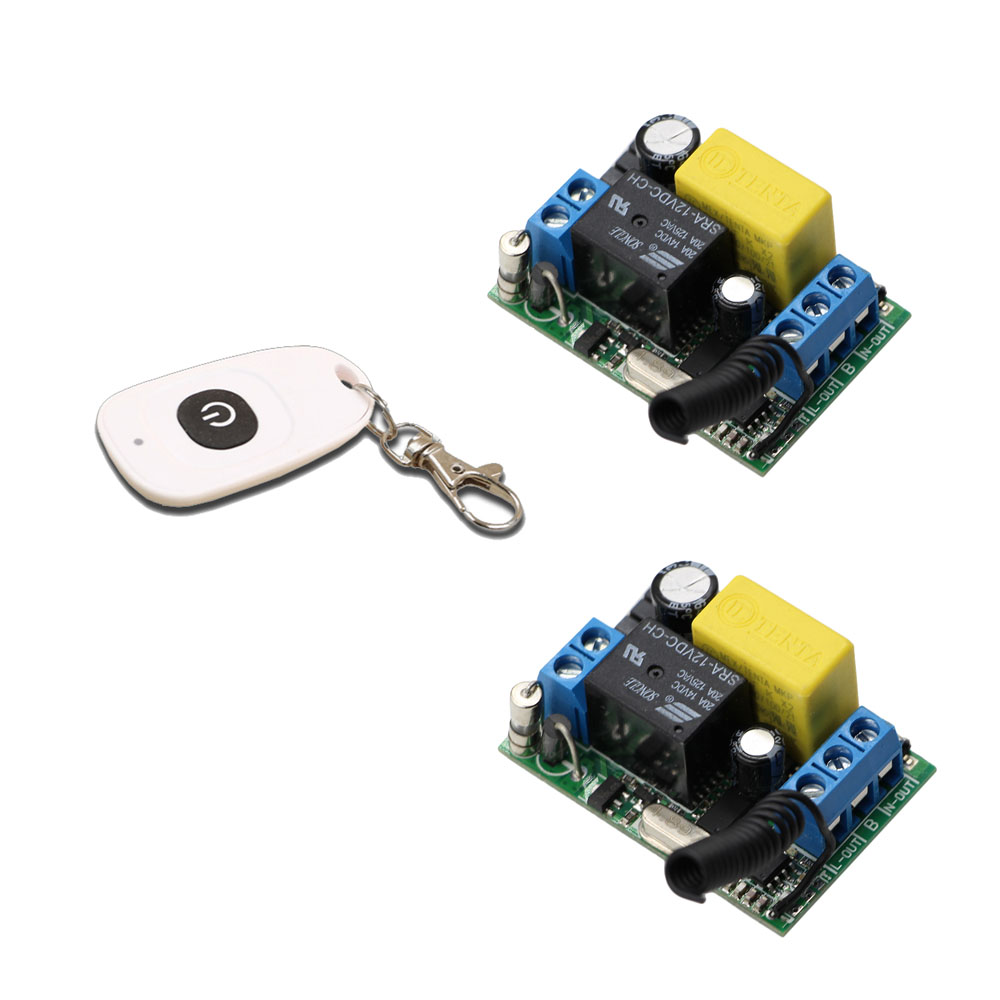 New Arrival 2pcs Receivers With Transmitter AC 220V Wireless Remote Control Switch For Garage/Roller/Sliding Gate Door Motor