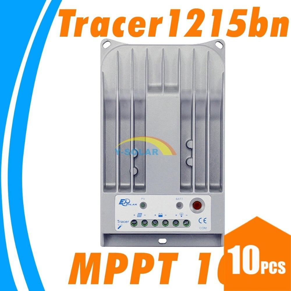 10PCS Tracer MPPT 10A solar controller 12V 24V solar panel battery GEL controller 1215BN for solar street LED lighting 100w 12v monocrystalline solar panel for 12v battery rv boat car home solar power