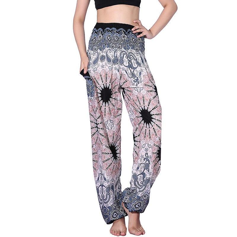 8ade75ee798 Dropwow CHRLEISURE Women High Waist Printed Beach Boho Pants Fashion ...