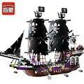 Enlighten 1535 unids piratas del caribe negro modelo de nave de montaje de bloques de construcción ladrillos de juguetes educativos de regalo de navidad