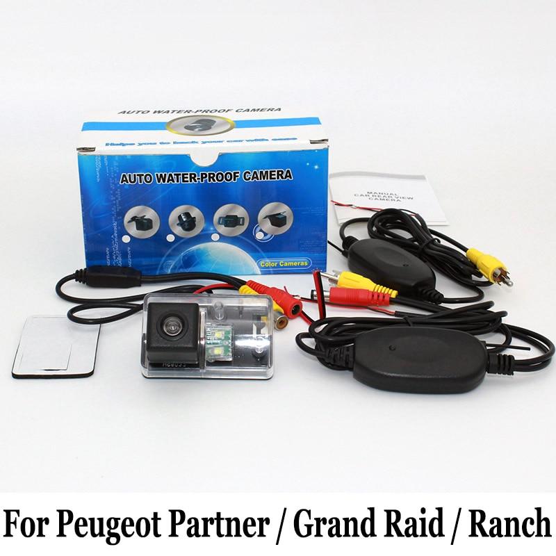 Caméra de Stationnement de voiture Pour Peugeot Partner/Grand Raid/Ranch/RCA AUX Fil Ou Sans Fil/HD CCD Nuit Vision Caméra de vision Arrière