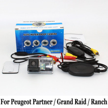 Car Parking Camera For Peugeot Partner / Grand Raid / Ranch / RCA AUX Wire Or Wireless / HD CCD Night Vision Rear-view Camera