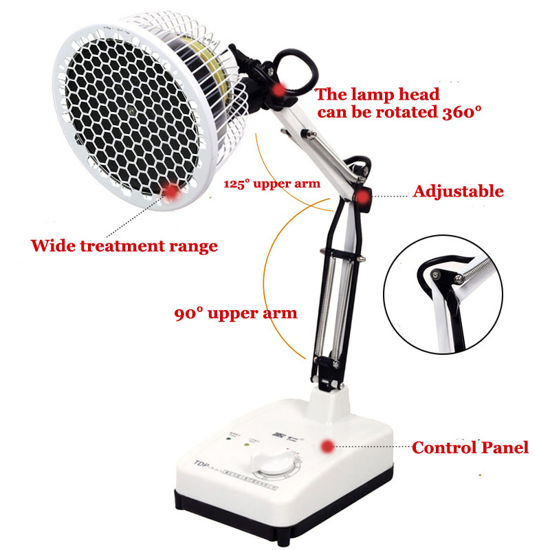 Heat Lamp Infrared Therapy Pain Relief Physiotherapy Heating Light Massage Health Infra Care Desktop Floor Stand Multi Style цена