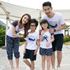 2016 Summer Family Matching Outfits Short Sleeved Cotton T Shirt Women Kids Clothing Top Tees Family
