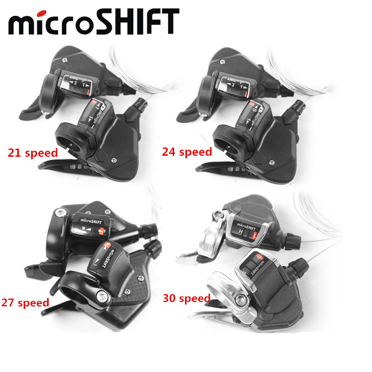 цена на Microshift TS-/38/70/82/ 7/8/9/10 speed MTB Mountain Bikes Bicycles cycling Derailleur lever Gear Shifters Parts