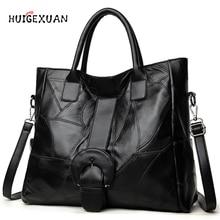 Genuine Leather Handbags Famous Brands Casual Large Capacity Big Shoulder Crossbody Bags Female Bag Women Shoulder Messenger Bag стоимость