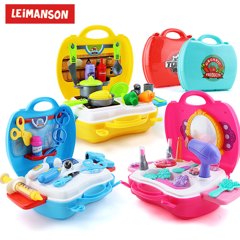 Kids Simulation Kitchen Pretend Play Cooking Tableware Makeup Doctor Toy Sets Unisex Gifts For Children