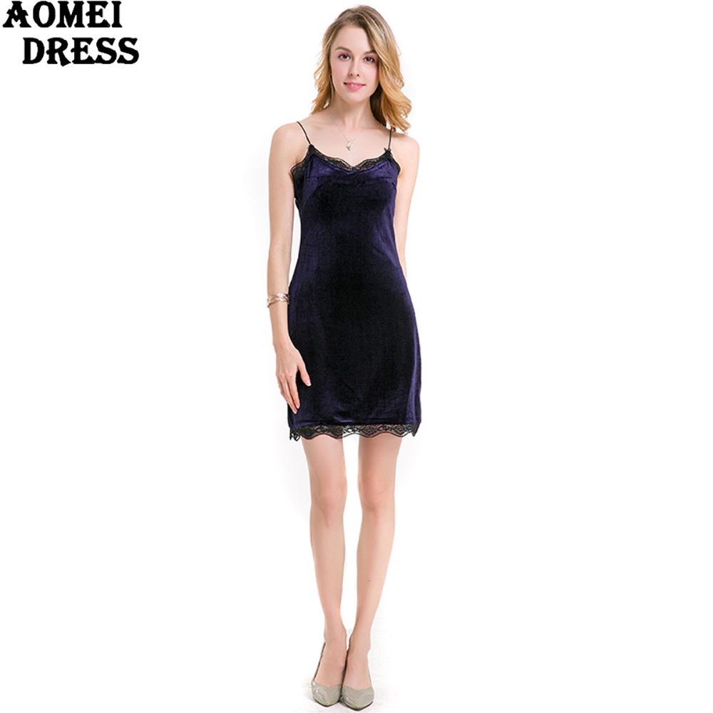 HTB1yuuQPpXXXXcvXFXXq6xXFXXX8 - FREE SHIPPING Women New Sexy Velour Dress With Lace Sphagetti Robes JKP259