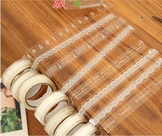 1pcs/Lot Lace Adhesive Tape Japanese Masking Tape Decorative Stickers 10M  Label  Stationery School Supplies