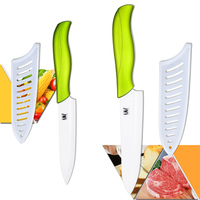 High Grade Kitchen Ceramic Knife 5 Inch Slicing And 6 Inch Chef Knife With White Blade