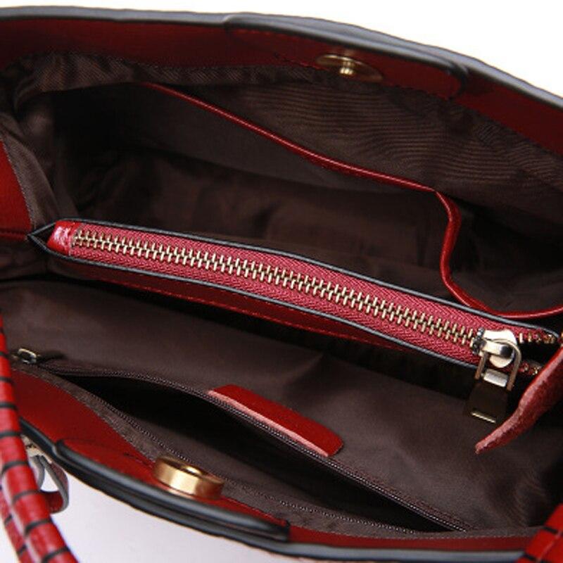 Der Echt Europäischen Umhängetasche red Stil Neue Schulter Mode Leder Mutter Tasche Dame Rindsleder grey Black Und Amerikanischen Handtasche 2019 7wZIdFnq7