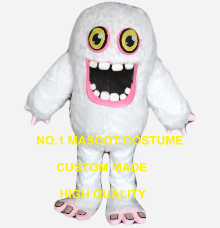 snow monster yeti mascot costume wholesale for adult to wear for sale cartoon halloween creatures theme anime cosplay 2596