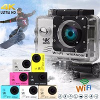 Winsoar Sport Action DV Camera Camcorder SJ9000 4K Ultra HD 120 WiFi 2.0'' Waterproof Silver Gold Blue Pink Yellow White Black