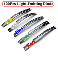 100 Pcs 0805 Ultra Brilhante SMD LED Light-Emitting Diode 5 Cores Amarelo/Branco/Azul/Verde/vermelho Frete Grátis