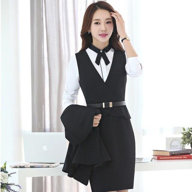 Herbst Winter Dunne Fashion Professional Business Frauen Arbeit