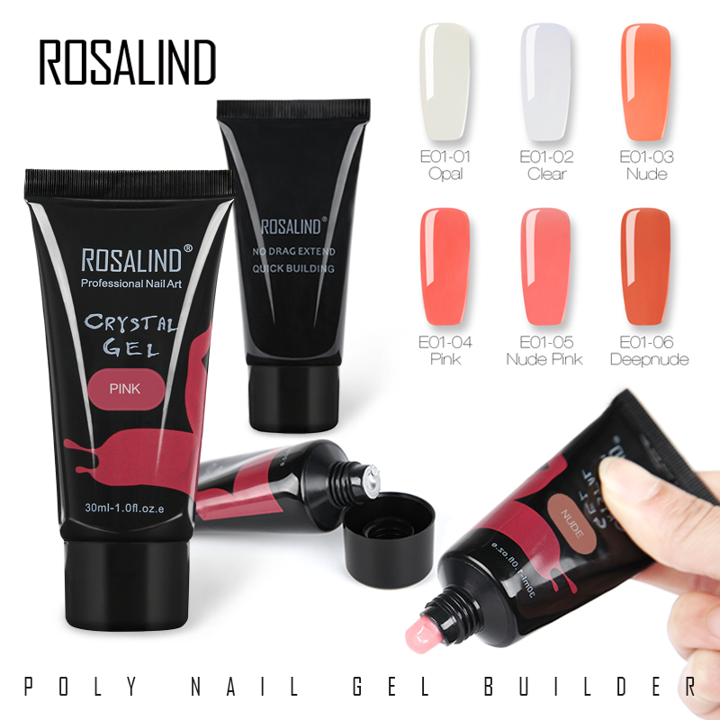 ROSALIND Poly Builder gel nail art Crystal nail Jelly