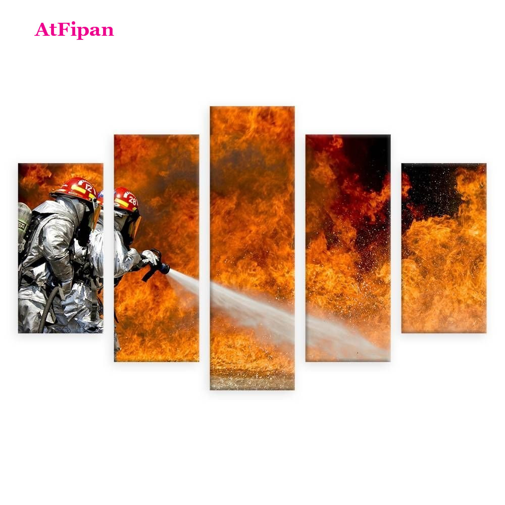 Firefighter Wall Art firefighter canvas promotion-shop for promotional firefighter