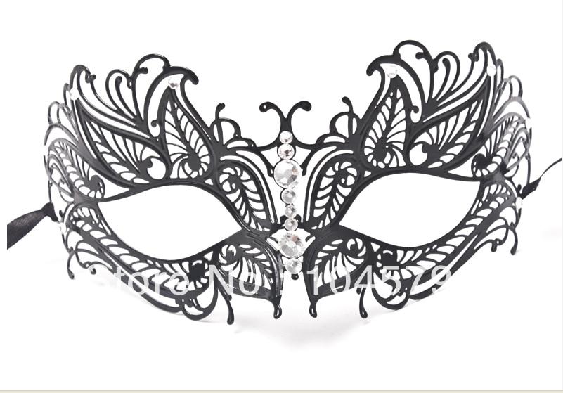 Envío gratis 1X hermosa artesanía estilo veneciano negro corte - Para fiestas y celebraciones